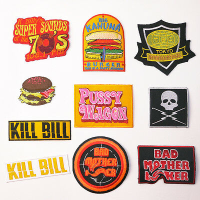 QUENTIN TARANTINO Movies Ultimate Patch Series - Iron-On Patches, UK Seller, NEW
