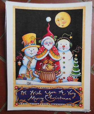 "Mary Engelbreit Laminated Print Poster 11 x 14"" ""Santa and the Snowboys"" Xmas"