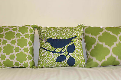 Vintage Lime Green Set Home Decor Linen CUSHION COVER PILLOW CASE 18""