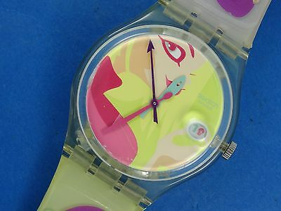 RARE 1999 SERIES GK421 SWATCH Oops! My Nails w/ DATE * WORKING