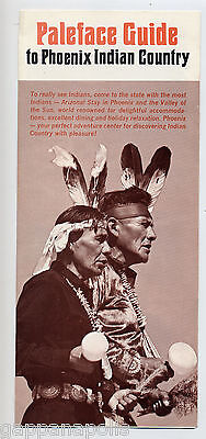Paleface Guide to Phoenix Indian Country - Undated Vintage Brochure Post 1963