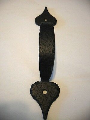 Vintage NOS BLACK Painted Hammered Cabinet DOOR Handles DRAWER Pulls Rustic