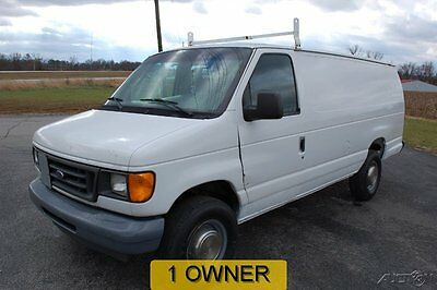 Ford : E-Series Van Commercial 2003 commercial used 5.4 l v 8 extended white automatic cargo service utility