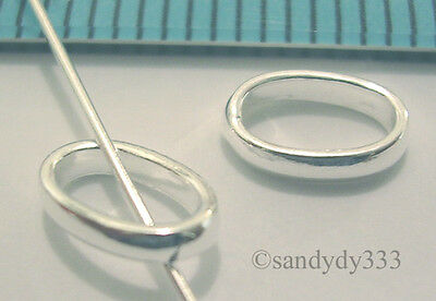 10x STERLING SILVER CLOSED JUMP RING OVAL JUMPRING 5.8mm #494