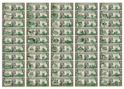 Set of 50 STATE $1 Bill *Genuine Legal Tender* U.S. One-Dollar Currency *Green*