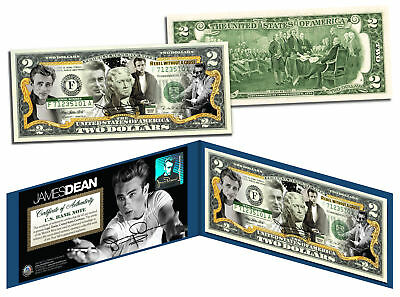JAMES DEAN * Rebel Without a Cause * Legal Tender US Colorized $2 Bill *LICENSED