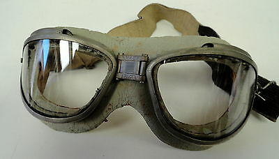 WWII CHAS. FISCHER MK II PILOT FLYING GOGGLES