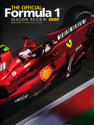The Official Formula 1 Season Review 2007 Book Cover signed by Kimi Raikkonen
