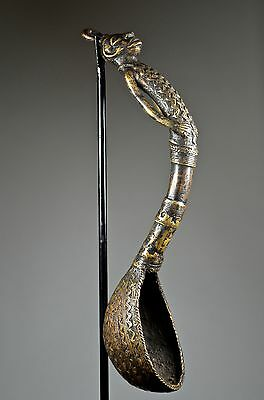 BAMILEKE CEREMONIAL BRONZE SPOON - ARTENEGRO Gallery with African Tribal Arts