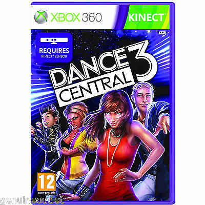 DANCE CENTRAL 3 for XBOX 360 KINECT SEALED NEW