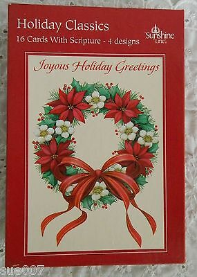 Dayspring Christmas Cards.Boxed 16 Vtg Sunshine Lines Holiday Classics Greetings Christmas Cards Dayspring