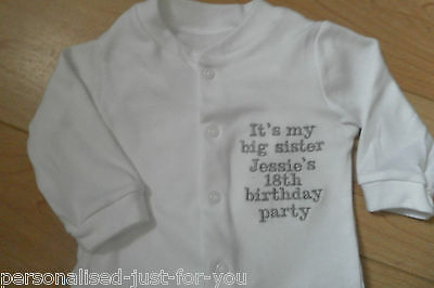 Personalised Baby Grow/sleepsuit any message .....great gift