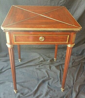 Paul Sormani & file 10 charlot parís mahogany game table bronze mountings french