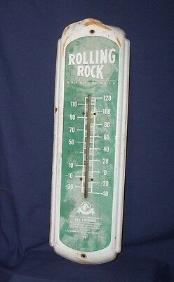 Rolling Rock Thermostat Advertisement Sign from 1988, 27 x 8 1/2 inches
