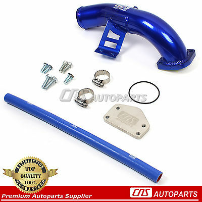 04-05 Chevy GMC 6.6L Diesel Duramax LLY EGR Delete Kit W/ High Flow Intake Elbow