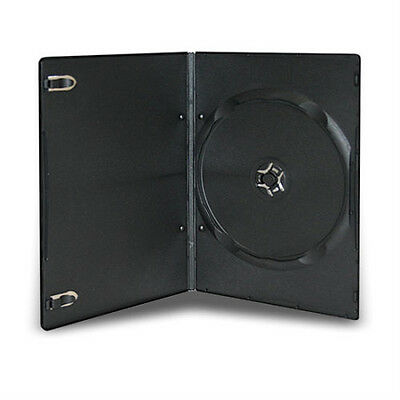 500 Pcs 5Mm Slim Single Black Dvd Case