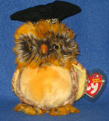 TY SMARTEST the OWL BEANIE BABY - MINT with MINT TAGS