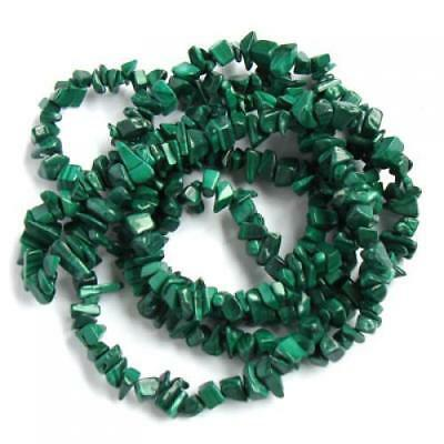 Natural Malachite Chip Gemstone Loose Beads Strand Great for Necklace Bracelet