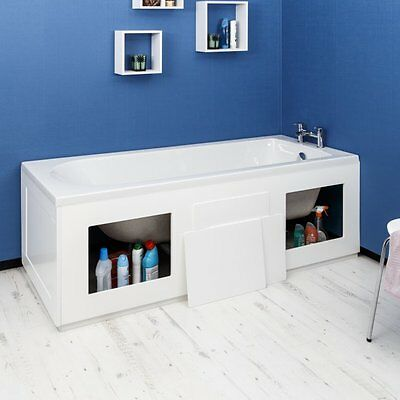 Croydex Gloss White Storage Front/Side Bath Panel WB715122