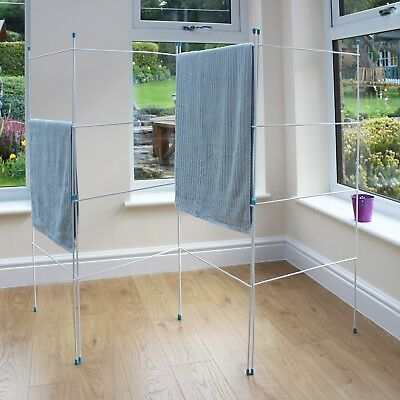 JVL Caravan Indoor Outdoor Folding Washing Clothes Horse Airer Laundry Dryer