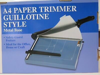 Sovereign A4 Paper Trimmer Guillotine w Safety Guard Metal Base 40534***.
