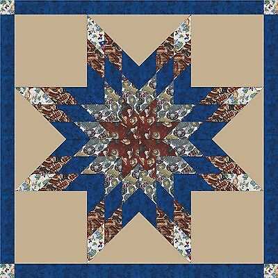 ONLY REAL COWBOYS ARE FROM TEXAS! - Star Quilt Top Only-not quilted