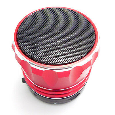 Bluetooth Wireless Mini Portable Speaker For Iphone Ipad Mobile Mp3 Red Metal
