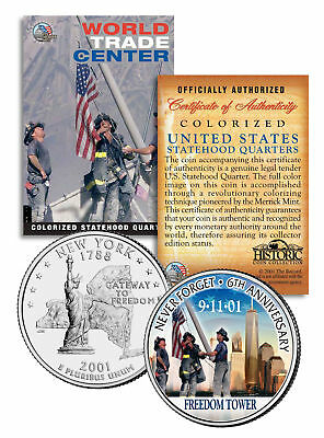 WORLD TRADE CENTER * 6th Anniversary * FREEDOM TOWER 9/11 NY Quarter US Coin WTC