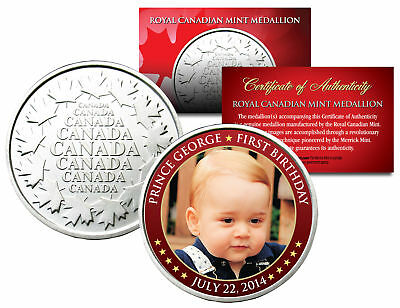 PRINCE GEORGE * First Birthday 2014 * Royal Canadian Mint Medallion Coin BABY