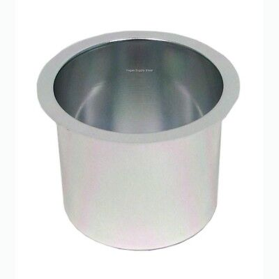 (2) Two Aluminum Drink Cup Holders - Grey for Poker Tables - Item 71-0003x2