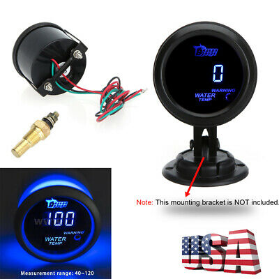 Digital Water Temperature Meter Gauge with Sensor for Auto Car LCD 40~120Celsius