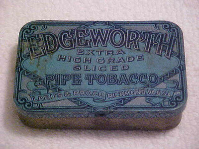 VTG. POCKET SIZE  EDGEWORTH PIPE TOBACCO TIN LARUS & BRO. CO. RICHMOND VA.