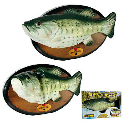 Singing Fish Billy Bass Vintage Wall Plaque Novelty Gift Dancing Rare 80S New