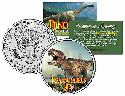 TYRANNOSAURUS T. REX * Collectible Dinosaur * JFK Half Dollar US Colorized Coin