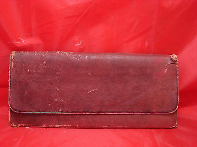 Antique Pre Civil War Signed Leather Wallet February 16, 1854 Sunset Kentucky