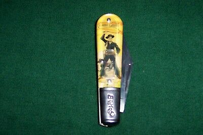 "NEW- Novelty Cutlery ""LASH LARUE""  2 Blade 3.5"" Barlow Pocket Knife NV247"
