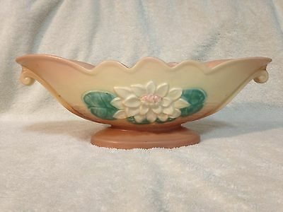 Hull Pottery Water Lily Console Bowl L-21