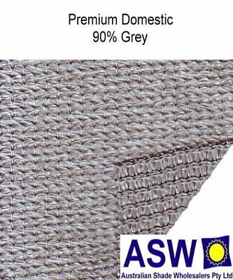 90% UV 1.83m (6') wide GREY SHADECLOTH Premium Domestic Plus Knitted Shade Cloth