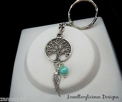 Beautiful Silver Tree Of Life Dream Catcher Keyring Key Ring Lovely Gift