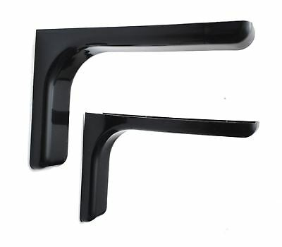 Shelf support brackets with covers 240mm Invisible/Concealed Fixings Black