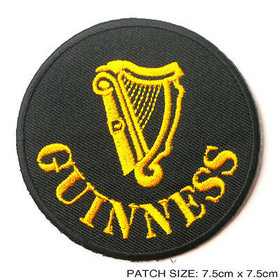 GUINESS Patch - Embroidered Iron-On Style, NEW