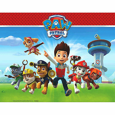 """54"""" x 96"""" Paw Patrol Pup Pets Children's Party Disposable Plastic Table Cover"""