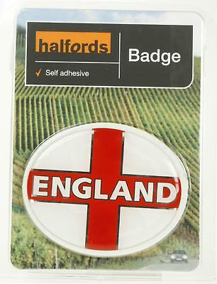 Halfords deluxe england badge oval self adhesive decals exterior road vehicle