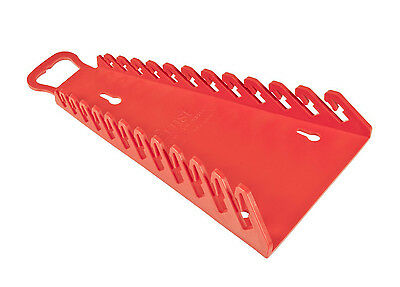 "Ernst 5115  12 Tool Reverse ""GRIPPER"" Wrench Organizer - Red"