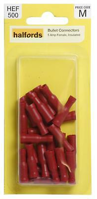 Halfords HEF500 Bullet Connectors Pack 20 Pieces 5 Amp Female Insulated Wiring