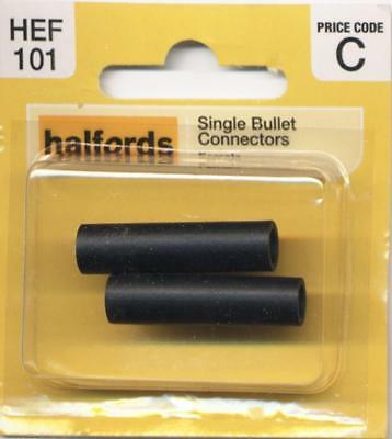 Halfords HEF101 Single Bullet Connectors Pack 2 Pieces Female Terminal Wiring