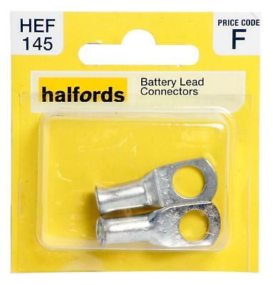 Halfords HEF145 Battery Lead Connectors Pack 2 Pieces Electrical Terminal Wiring