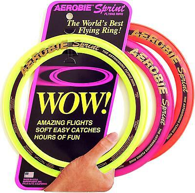 """Aerobie Sprint Flying Ring 10"""" Frisbee Garden Games Outdoor Toy Backpacking"""