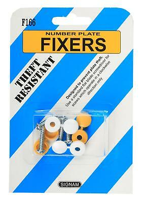 Registration Number Plate Fixers Clutch Head Screws Caps Anti Theft Exterior
