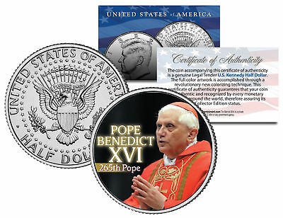 POPE BENEDICT XVI Colorized JFK Kennedy Half Dollar U.S. Coin * 265th Pope *